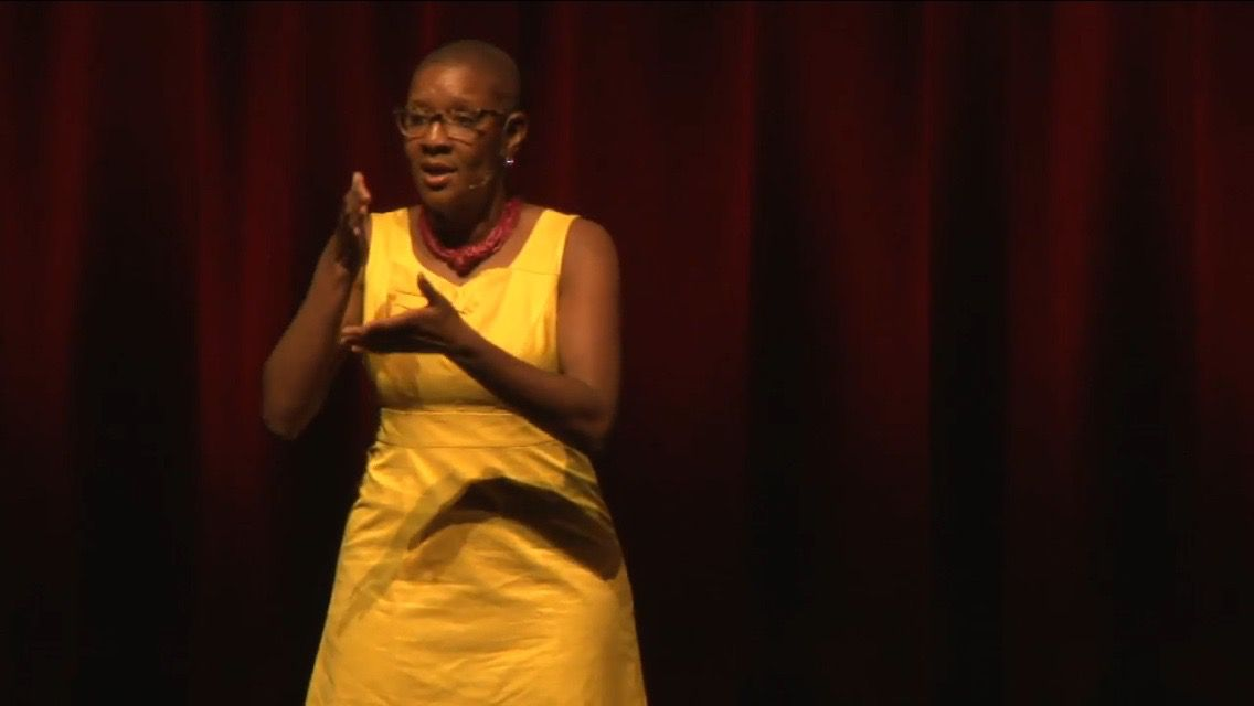 Downey delivers her TEDxMemphis talk.