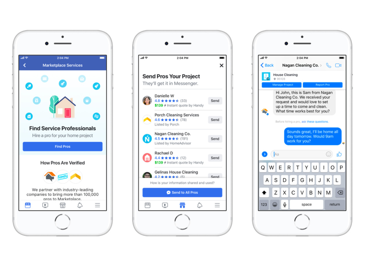 facebook marketplace now lets you hire plumbers and cleaners