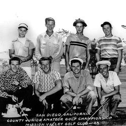 Billy Casper, top row, right, as a junior golfer in San Diego. Rival Gene Littler is on the bottom row, second from left.
