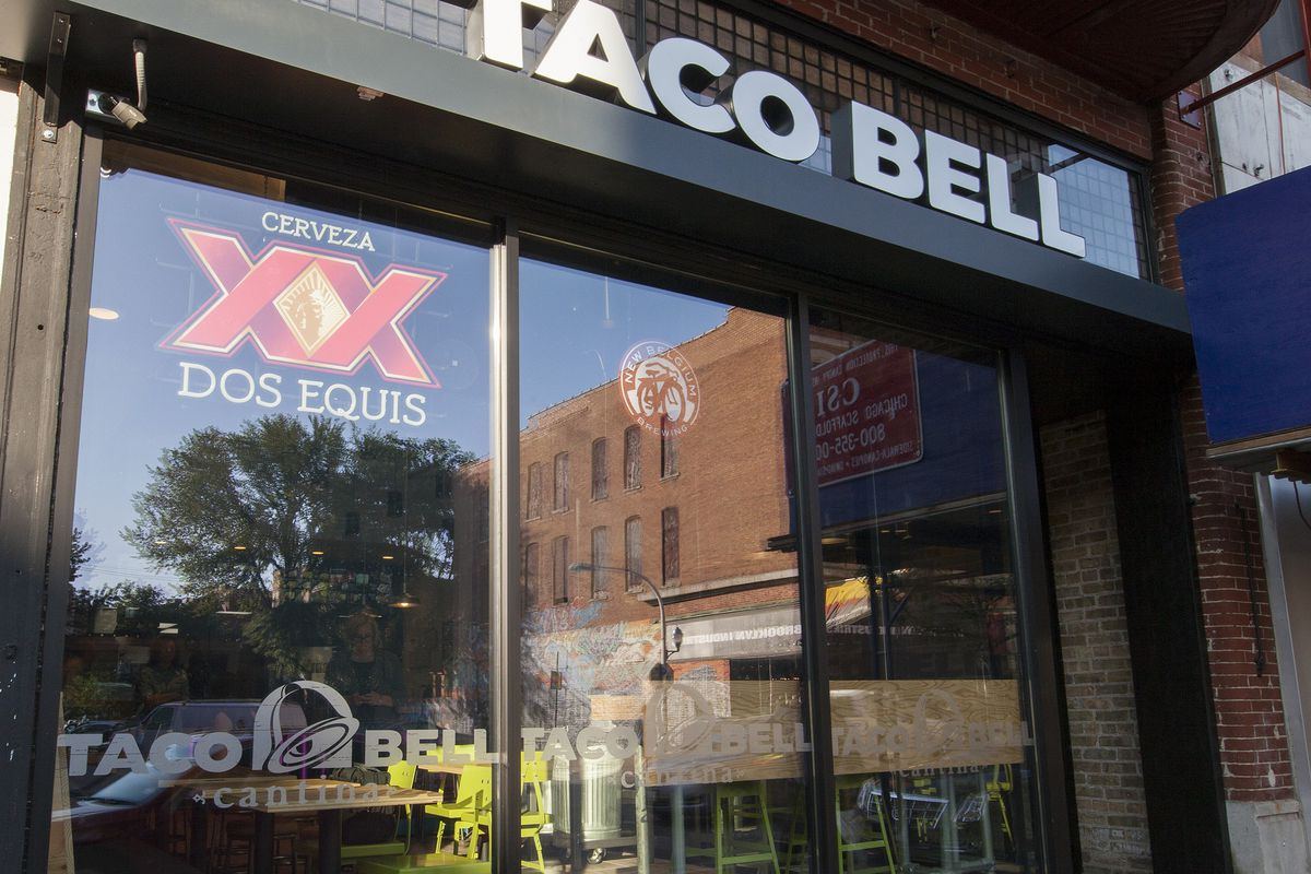 The first Taco Bell Cantina in Wicker Park, Chicago.
