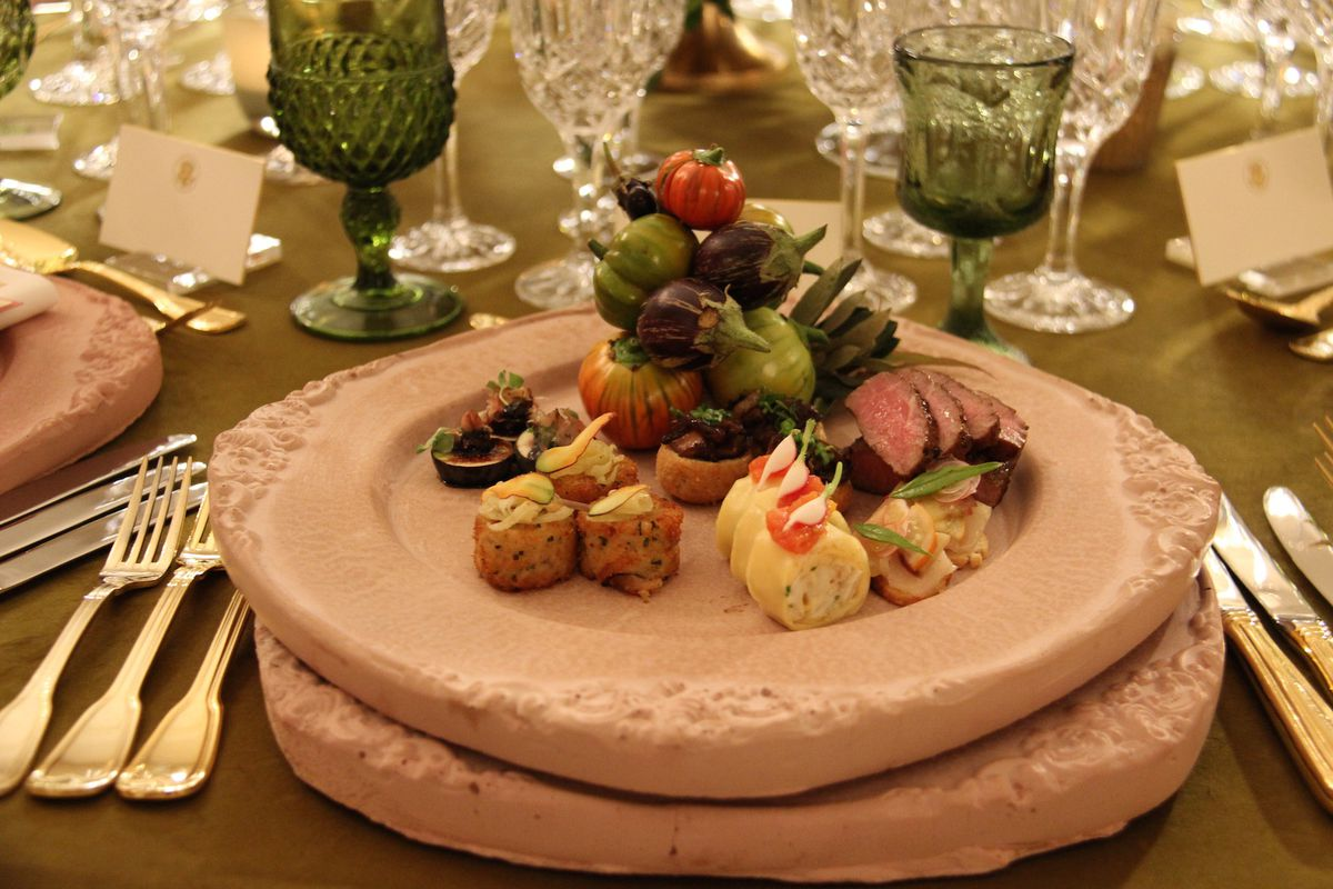 White House state dinner main course