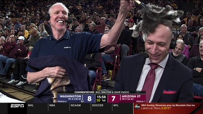 Screen Shot 2019 02 09 at 7.14.02 PM  2  - Bill Walton really ate a lit candle on top of a cupcake during a broadcast