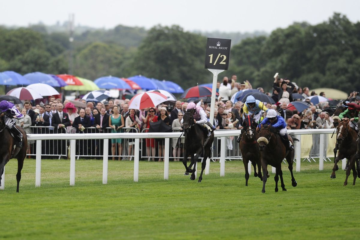ASCOT, ENGLAND - JUNE 16: Jamie Spencer riding Fame And Glory (L) win the Gold Cup on day three of Royal Ascot at Ascot racecourse on June 16, 2011 in Ascot, England  (Photo by Alan Crowhurst/ Getty Images)