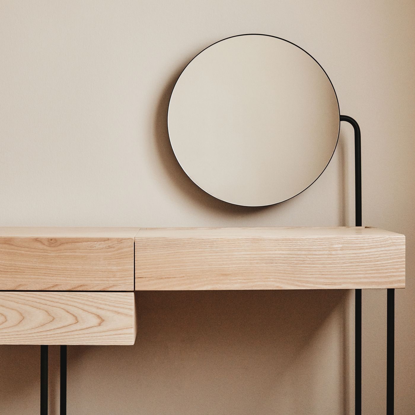 Minimalist Vanity Desk From Dims Is Clean Lined And Storage Filled Curbed