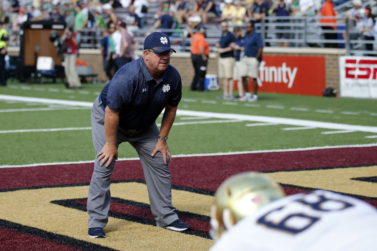 COLLEGE FOOTBALL: SEP 16 Notre Dame at Boston College
