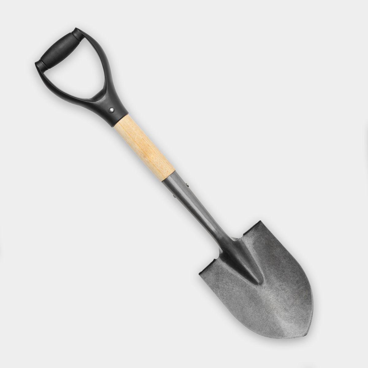 shovel on grey background