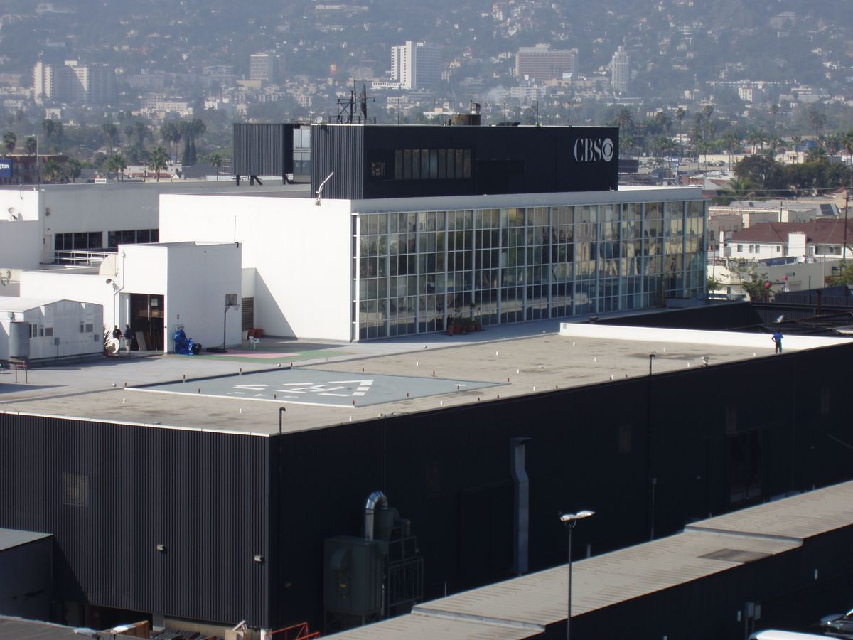 Aerial view of CBS Television City