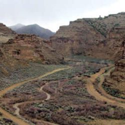 This image provided by the Bureau of Land Management shows an overview of Nine Mile Creek  inside Nine Mile Canyon, April 8, 2005 in Utah.