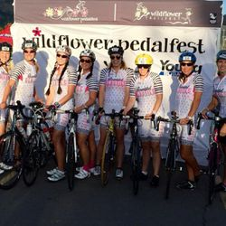 Members of the Bountiful Beauties bicycling group compete in the Wildflower Pedalfest.
