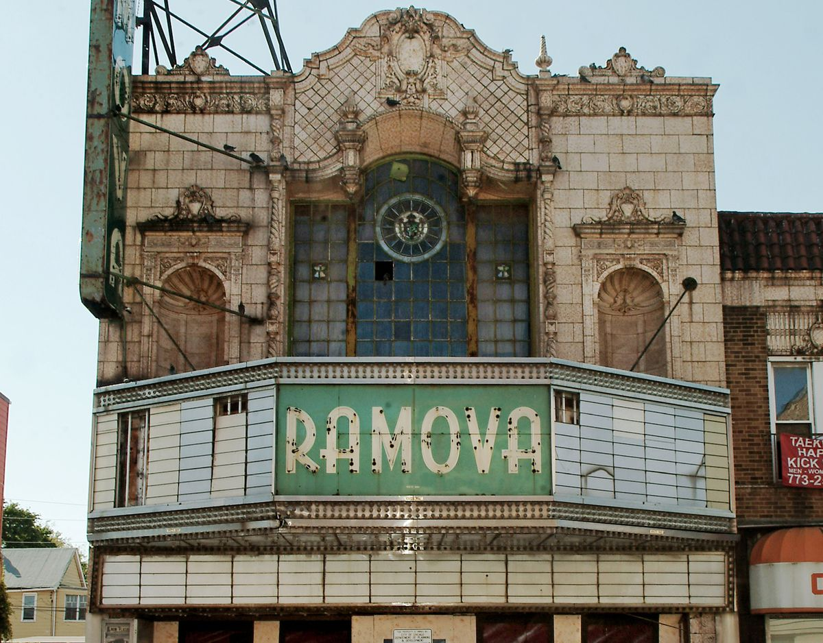 The long-vacant Ramova Theater, 3518 S. Halsted St.