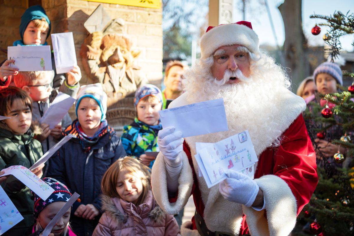 Arrival Santa Claus in Himmelpfort