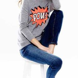 Autumn Cashmere Pow! Intarsia Cashmere Sweater, $340