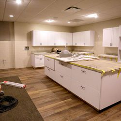 The green room is under construction in the soon-to-be-completed Hale Centre Theatre in Sandy on Wednesday, Aug. 9, 2017.