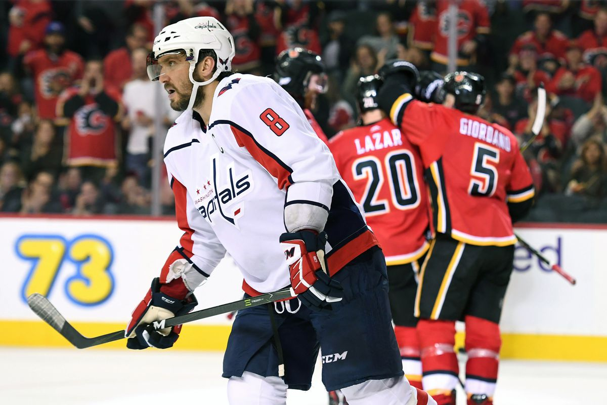 NHL: Washington Capitals at Calgary Flames