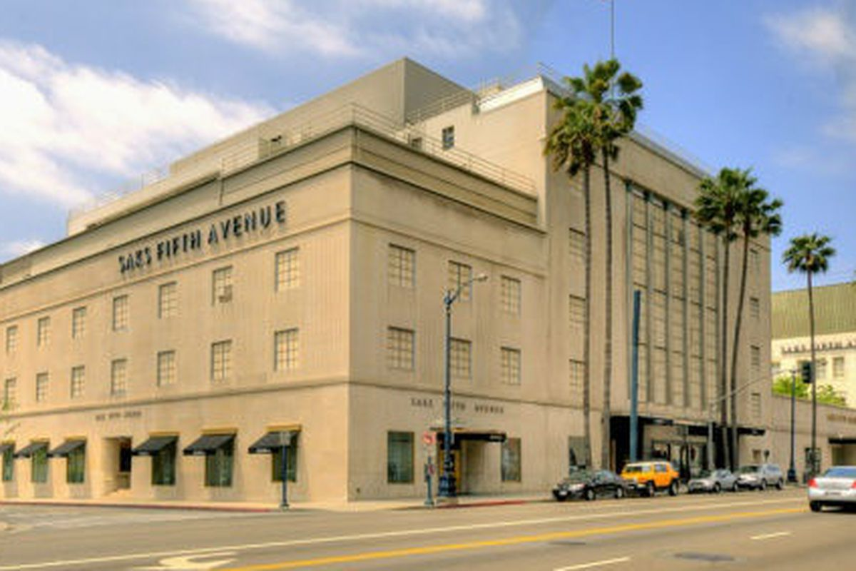 """Photo via <a href=""""http://www.paulrwilliamsproject.org/gallery/architectural-drawing-saks-fifth-avenue-store-los-angeles-ca/"""">Paul R Williams Project</a>"""