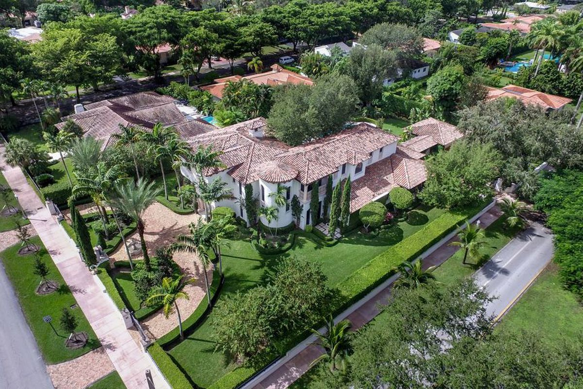 A Mediterranean mansion in Coral Gables on a large corner lot