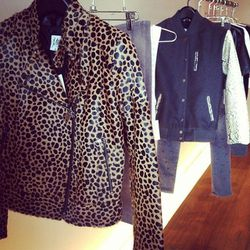 Rumi leopard biker jacket, $1,140.