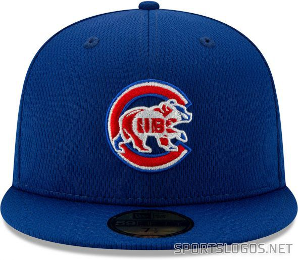 The Cubs' 2020 spring training and batting practice cap.