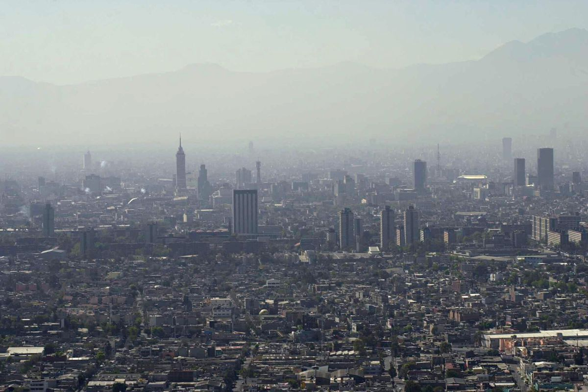 Mexico City is often covered in a hazy layer of smog.