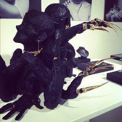 Creepy-cool jewelry display by Dominic Jones
