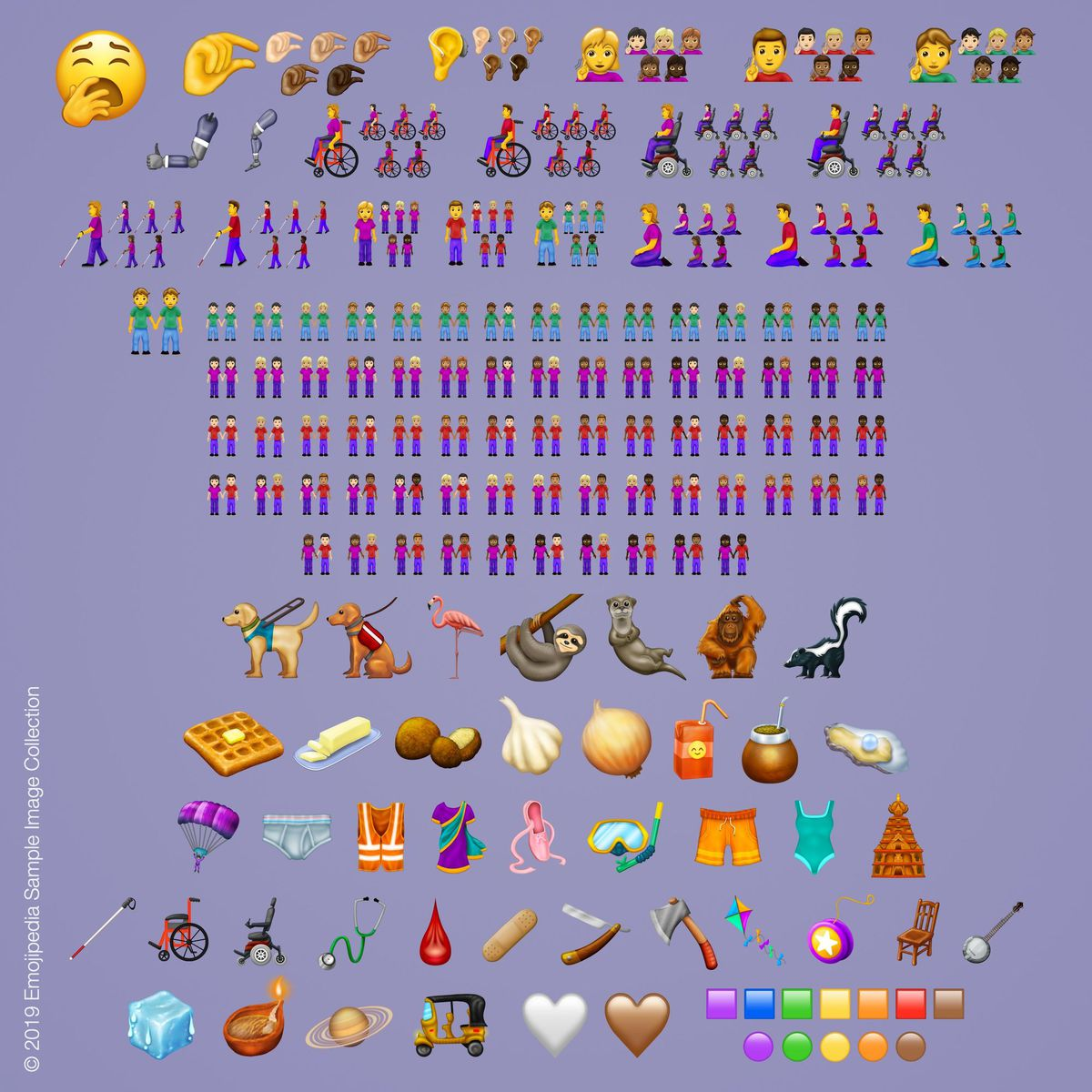 All the new emoji approved for 2019.