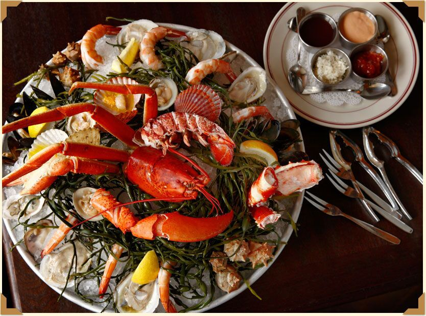 A $140 seafood tower from Le Diplomate