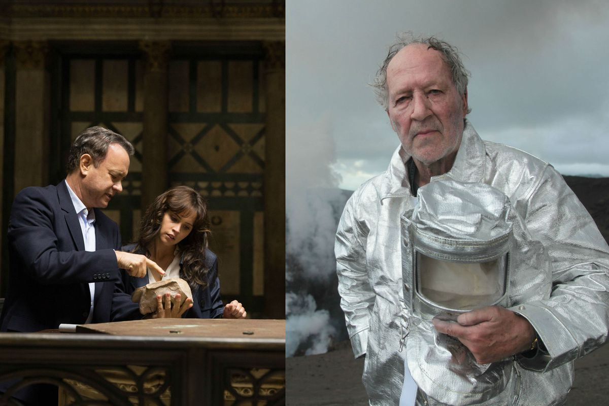 Tom Hanks and Felicity Jones in Inferno and Werner Herzog in Into the Inferno