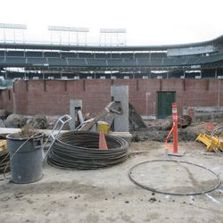 Another view of the left-field bleachers on Waveland