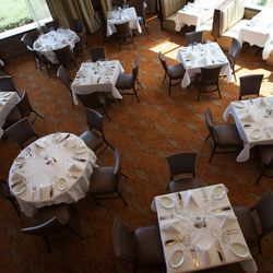 Top down view of the main dining room