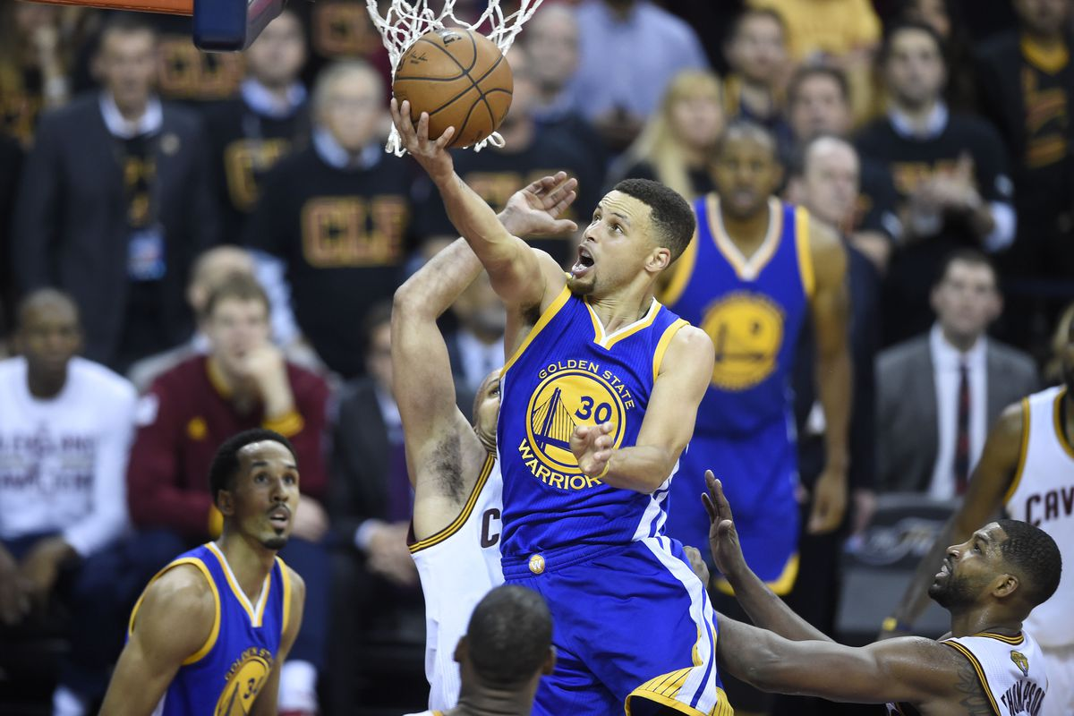Curry takes aim at a second consecutive championship today.