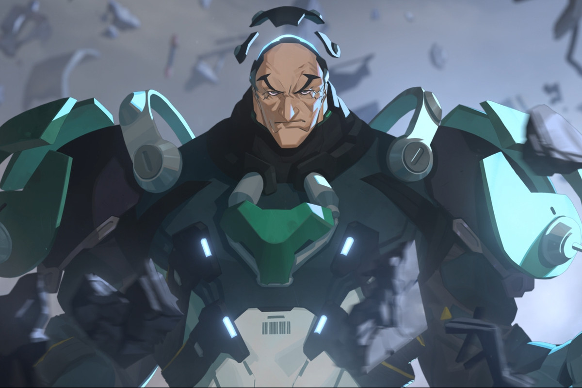 Overwatch - Sigma, the Talon tank, shows off his gravity defying armor.