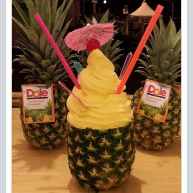Dole Whip in a pineapple