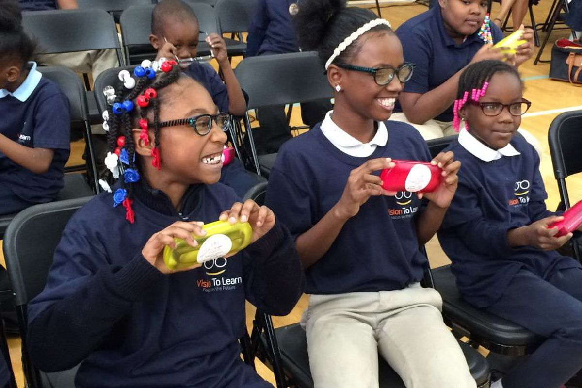 At Gompers Elementary Middle School in Detroit, where the city health department and the Vision To Learn nonprofit announced a partnership to provide free eye exams to 5,000 children in 2016. (Photo: Detroit Public Schools Community District)