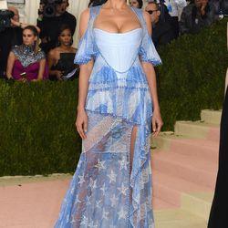Irina Shayk wears a Givenchy look.