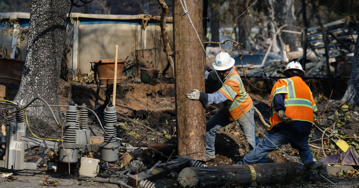 Northern California Wildfires Pg Amp E Equipment Caused
