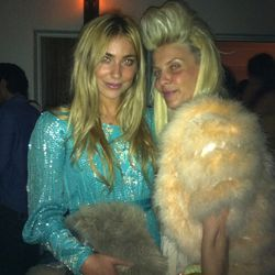 Faux furred-out Partygoers