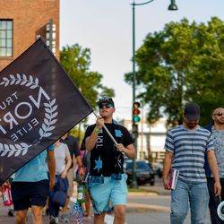 June 25, 2019 - Madison, Wisconsin, United States - A member of True North Elite arrives for the Forward Madison FC vs Minnesota United FC friendly match at Breese Stevens Field.