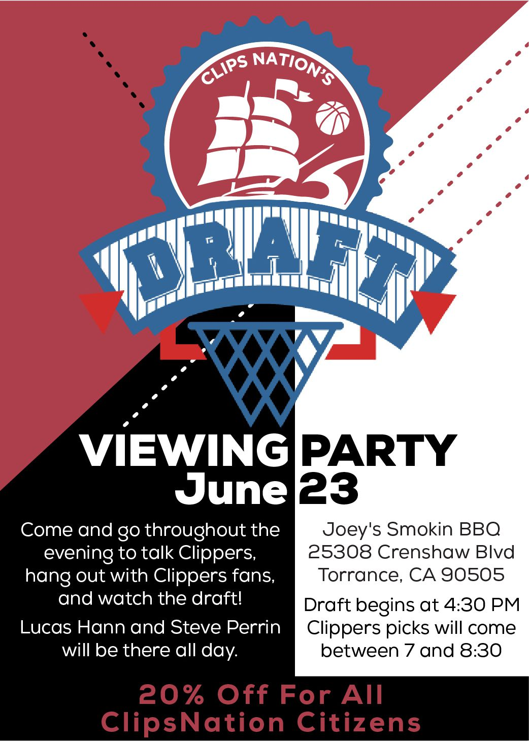 Clips Nation 2016 NBA Draft Viewing Party
