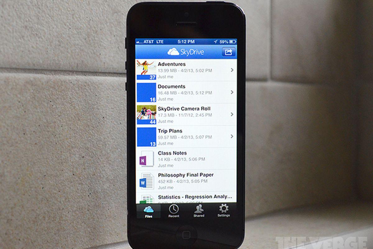 SkyDrive iOS iPhone stock