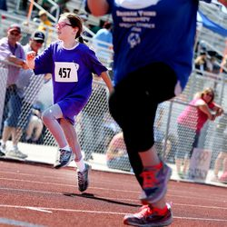 Ashlynn, of the Weber State Wildcats, competes in the Special Olympics Utah's 48th annual Summer Games at Provo High School on Friday, June 2, 2017. Nearly 1,300 athletes will compete during the two-day event with support from nearly 500 coaches and hundreds of volunteers.