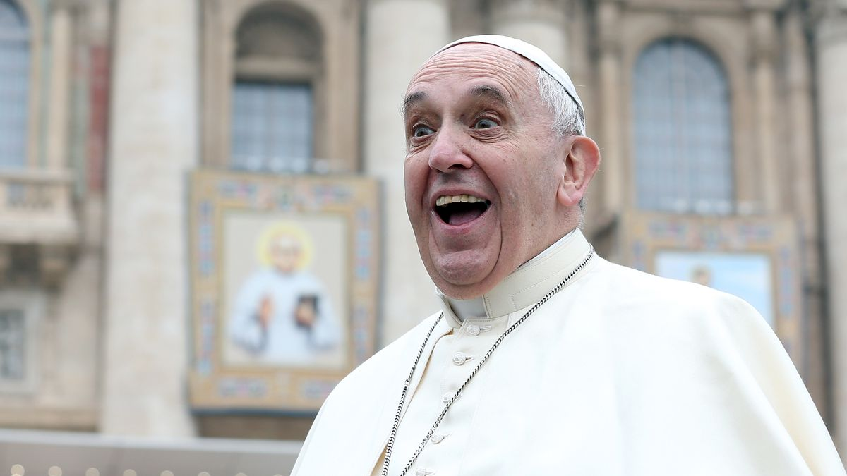 Pope Francis Attends His Weekly Audience In St Peter's Square.