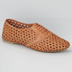"""Braided leather oxfords, <a href=""""http://us.levi.com/product/index.jsp?productId=17100446&Camp=CME%3AWomensShoesFS%3A20130221&csm=409004731&csc=586163&csa=409005411&csu=586170&"""">$98</a>"""