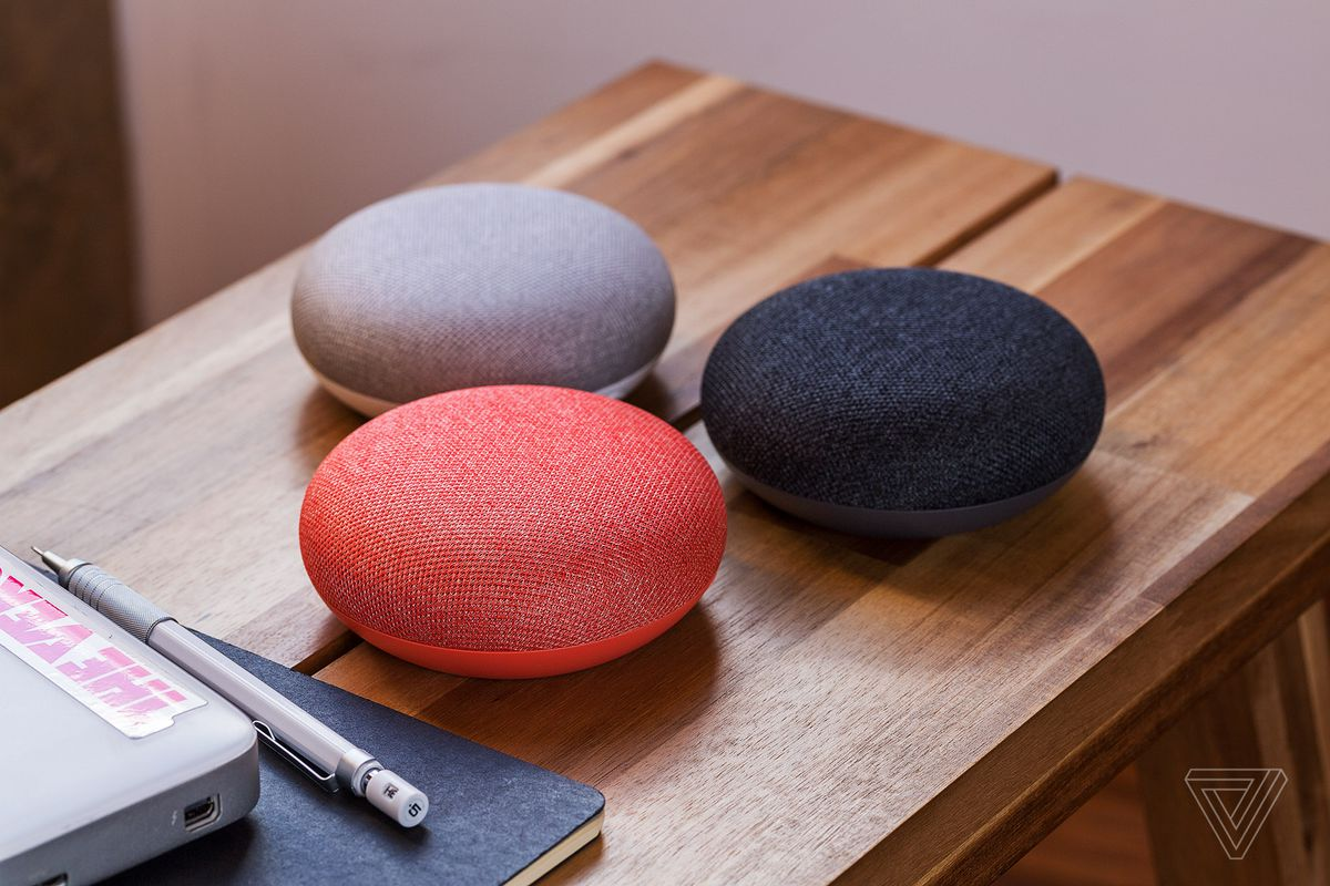 First Look At Google Home Mini And Max The Verge Red On Other 2nd Switch Utilizes 1 Black White Photo By James Bareham