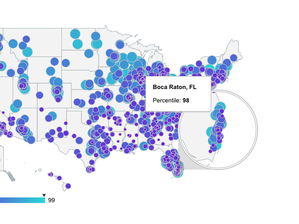 Mapping Floridas Best Small Cities - Boca raton florida map