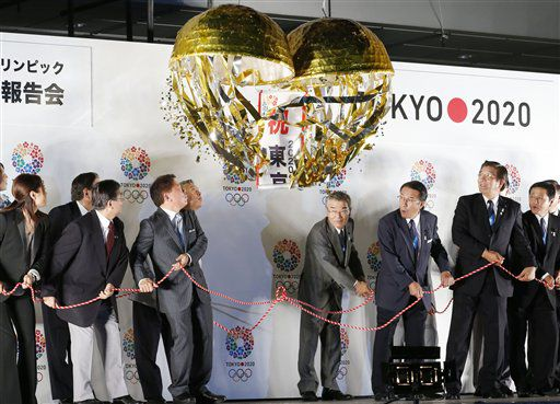 Tokyo Gov. Naoki Inose and the Tokyo 2020 Olympics bid team, pictured in 2013.