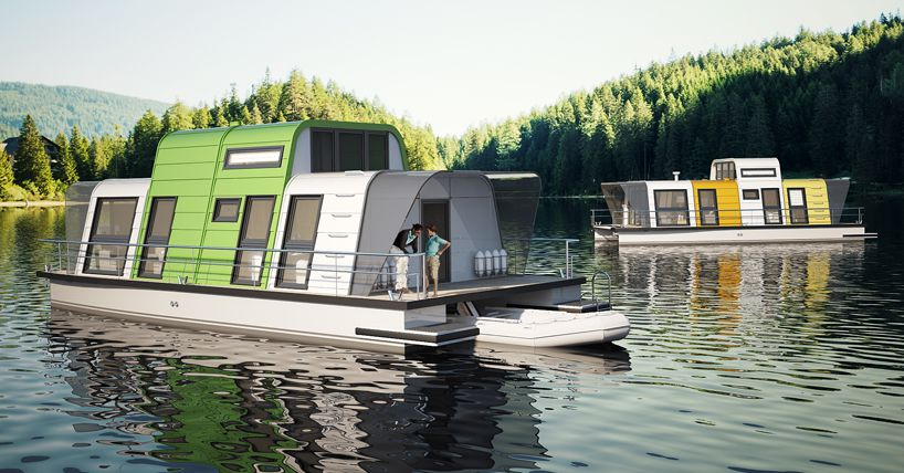 Prefab Houseboat Design Can Assembled Two Days Curbed