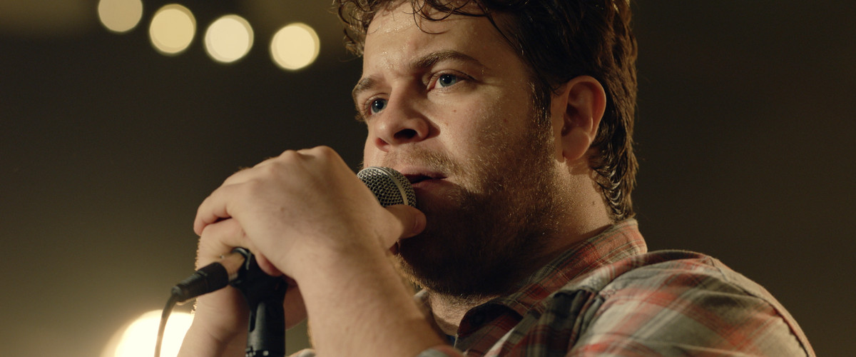 """Bart Millard (John Michael Finley) performs with his band MercyMe in """"I Can Only Imagine."""" 