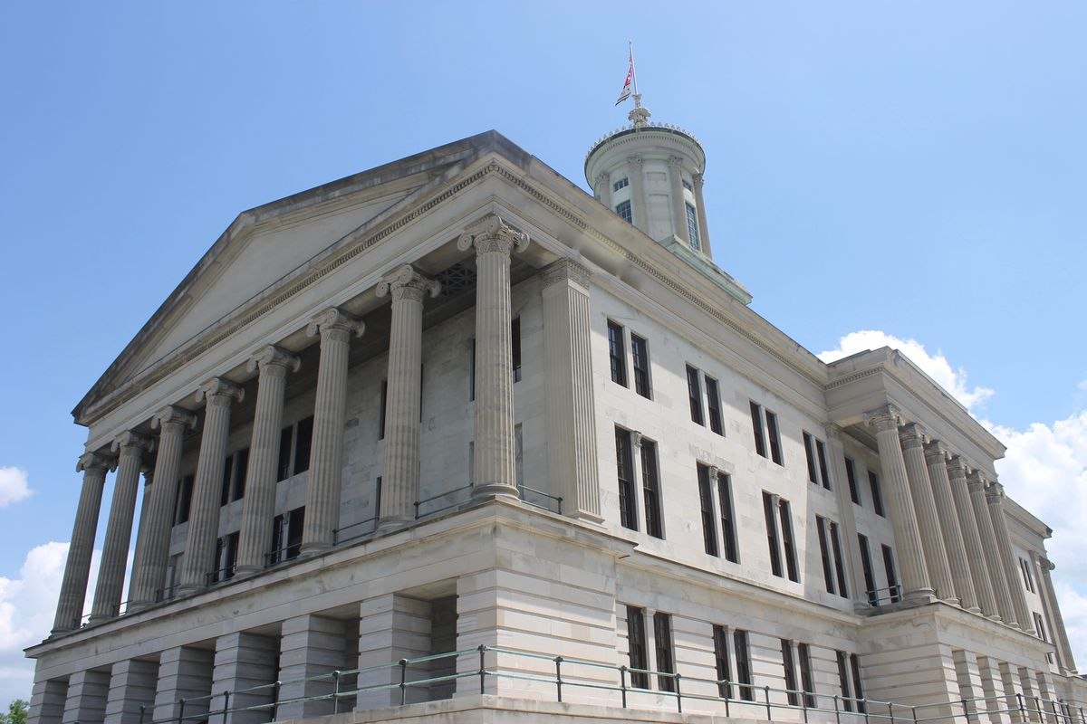 The Tennessee State Capitol sits in downtown Nashville.