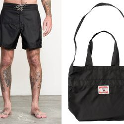 """""""Nothing would be cooler than a beach day with my kiddies Ethan, Marley, and Joseph. The RVCA x Birdwell collaboration board shorts, towel, tote bag, and hat would be perfect to take with us; we'll put some Bear Flag Fish Tacos in the tote."""""""