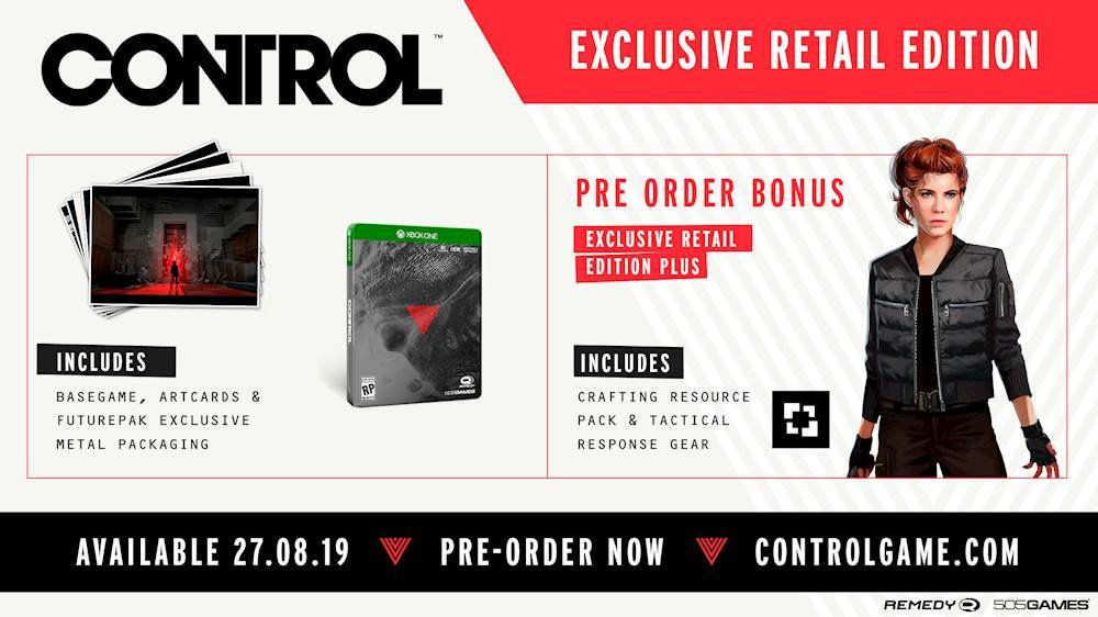 Components of the Control Exclusive Retail Deluxe Edition